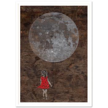 Mondmädchen von seiLeise in weisser Rahmung
