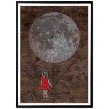 Mondmädchen von seiLeise in schwarzer Rahmung