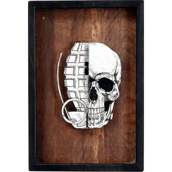 He Skull (Wood Edition) von xxxhibition