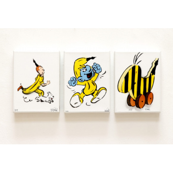 Drei Metamorphosen von Thomas Baumgärtel in der Bildgröße 24 x 18 cm.