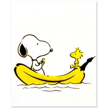 Snoopy-Banane von Thomas Baumgärtel
