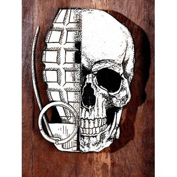 He Skull (Wood Edition) von xxxhibition - Detailansicht