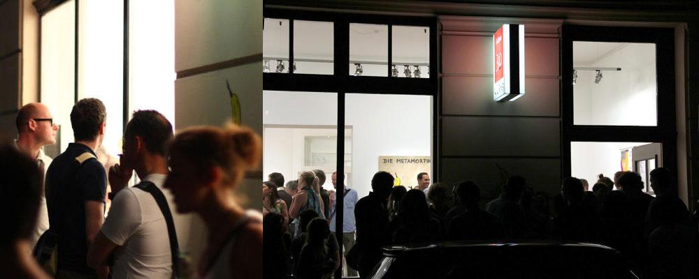 Außenansicht 30works Galerie Vernissage